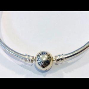 Pandora Bangle Charm Bracelet Sterling Silver